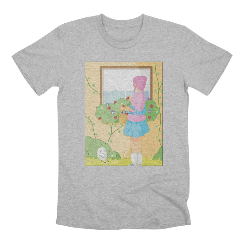 Companions - Strawberry Picking and Daisy Chain Making Men's Premium T-Shirt by Rachel Yelding | enchantedviolin