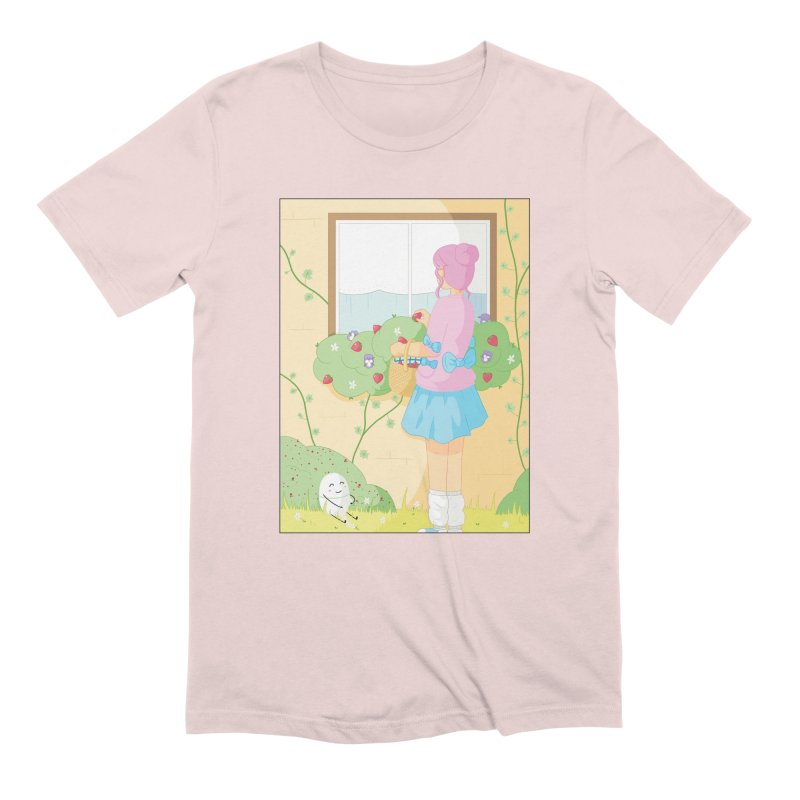 Companions - Strawberry Picking and Daisy Chain Making Men's Extra Soft T-Shirt by Rachel Yelding | enchantedviolin