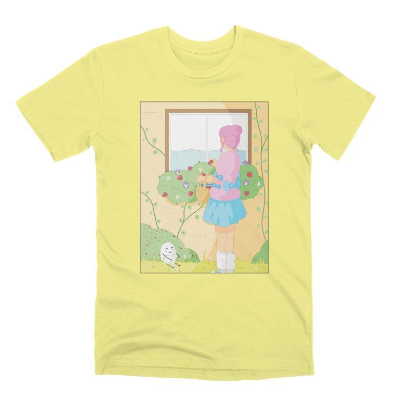 Companions - Strawberry Picking and Daisy Chain Making Men's Premium T-Shirt by Rachel Yelding   enchantedviolin