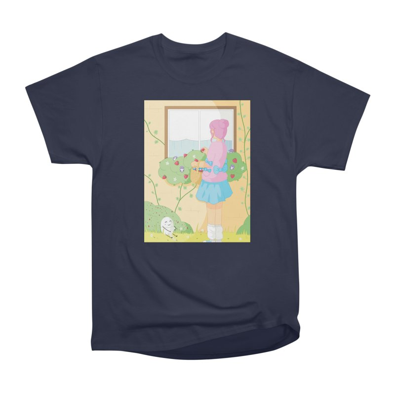 Companions - Strawberry Picking and Daisy Chain Making Men's Heavyweight T-Shirt by Rachel Yelding | enchantedviolin