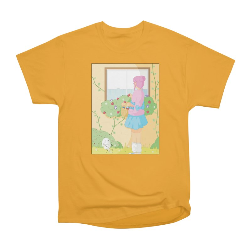 Companions - Strawberry Picking and Daisy Chain Making Men's Heavyweight T-Shirt by Rachel Yelding | enchantedviolin