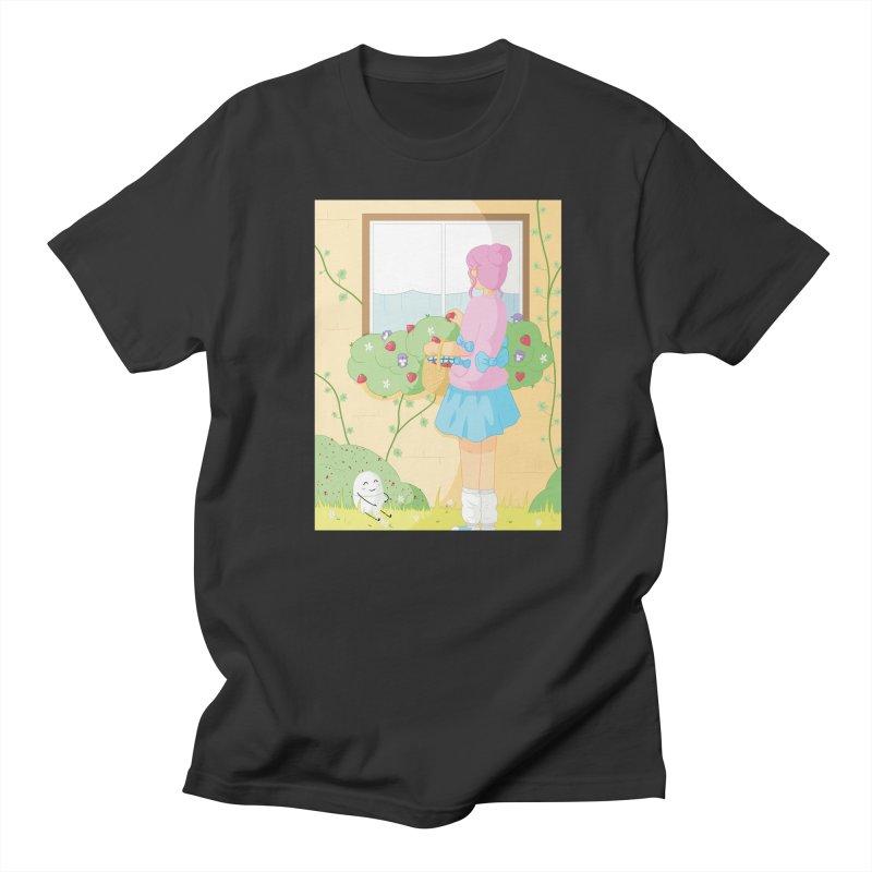 Companions - Strawberry Picking and Daisy Chain Making Men's Regular T-Shirt by Rachel Yelding | enchantedviolin