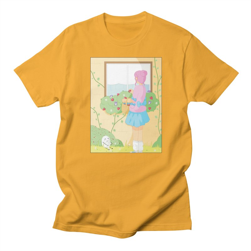 Companions - Strawberry Picking and Daisy Chain Making Men's Regular T-Shirt by Rachel Yelding | enchantedviolin