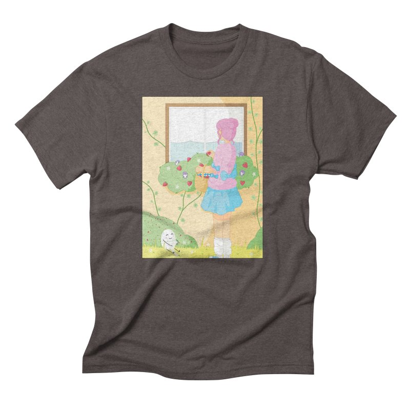 Companions - Strawberry Picking and Daisy Chain Making Men's Triblend T-Shirt by Rachel Yelding | enchantedviolin