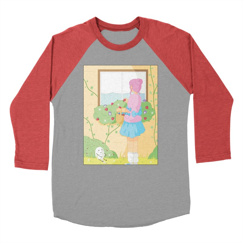 Companions - Strawberry Picking and Daisy Chain Making Women's Baseball Triblend Longsleeve T-Shirt by Rachel Yelding | enchantedviolin