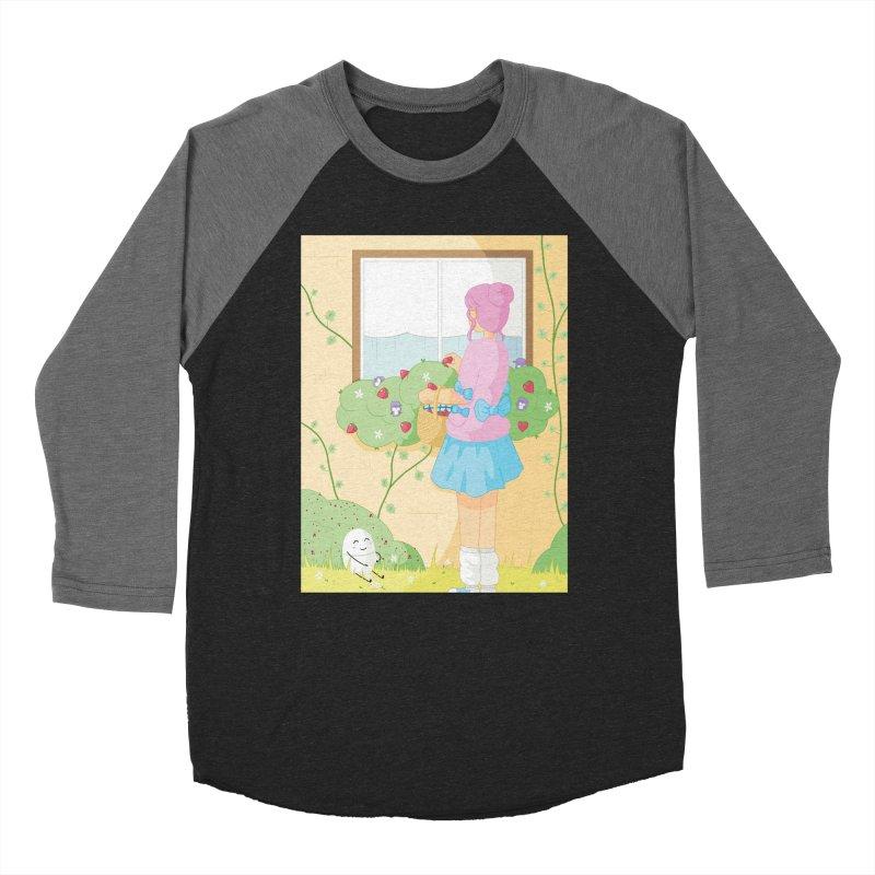 Companions - Strawberry Picking and Daisy Chain Making Women's Baseball Triblend Longsleeve T-Shirt by Rachel Yelding | enchantedviolin
