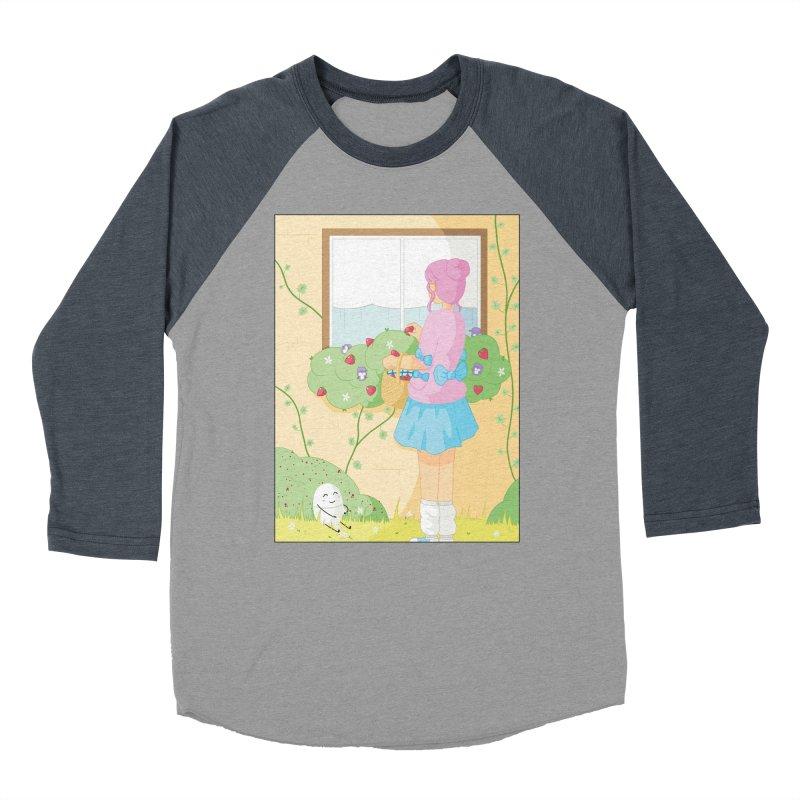 Companions - Strawberry Picking and Daisy Chain Making Women's Baseball Triblend Longsleeve T-Shirt by Rachel Yelding   enchantedviolin