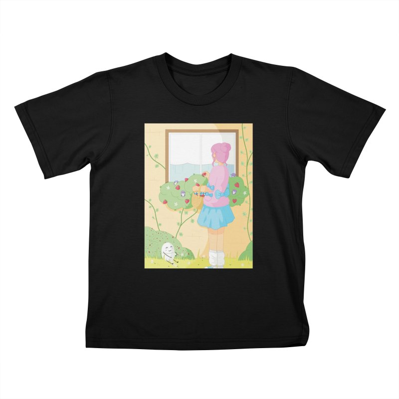 Companions - Strawberry Picking and Daisy Chain Making Kids T-Shirt by Rachel Yelding   enchantedviolin