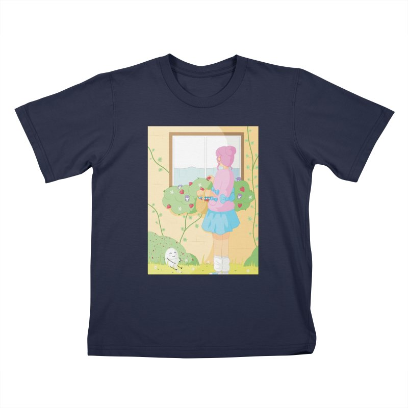 Companions - Strawberry Picking and Daisy Chain Making Kids T-Shirt by Rachel Yelding | enchantedviolin
