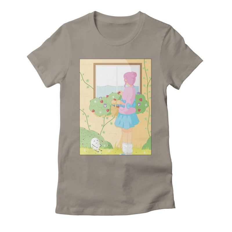 Companions - Strawberry Picking and Daisy Chain Making Women's Fitted T-Shirt by Rachel Yelding | enchantedviolin