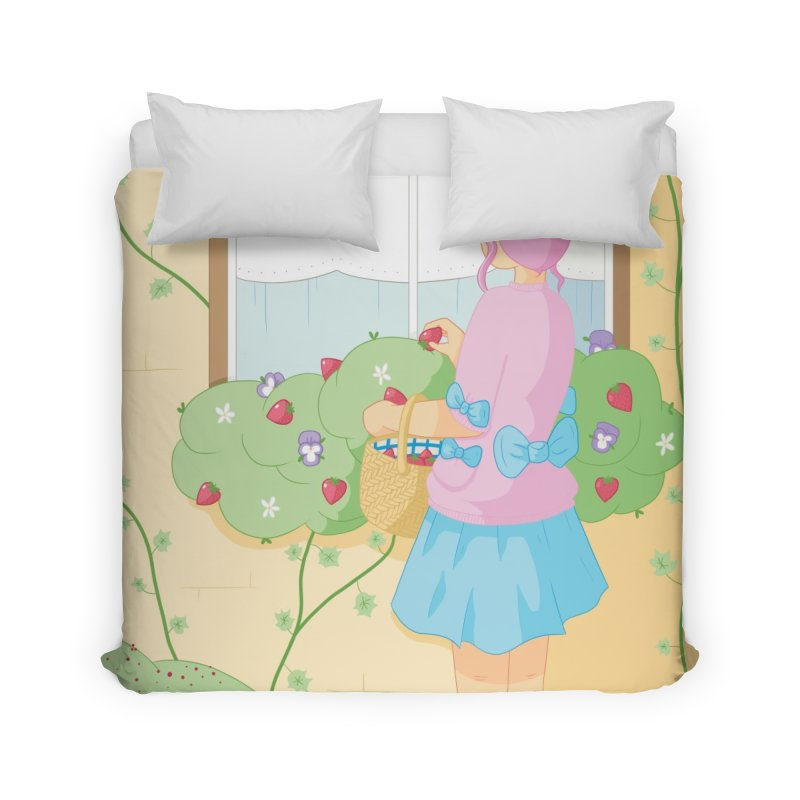 Companions - Strawberry Picking and Daisy Chain Making Home Duvet by Rachel Yelding | enchantedviolin