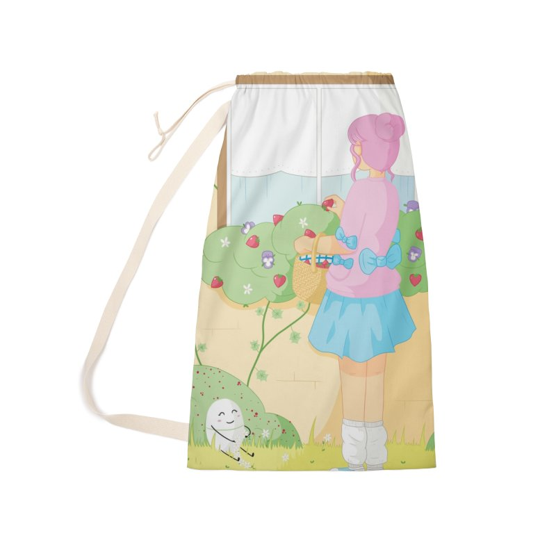 Companions - Strawberry Picking and Daisy Chain Making Accessories Laundry Bag Bag by Rachel Yelding | enchantedviolin