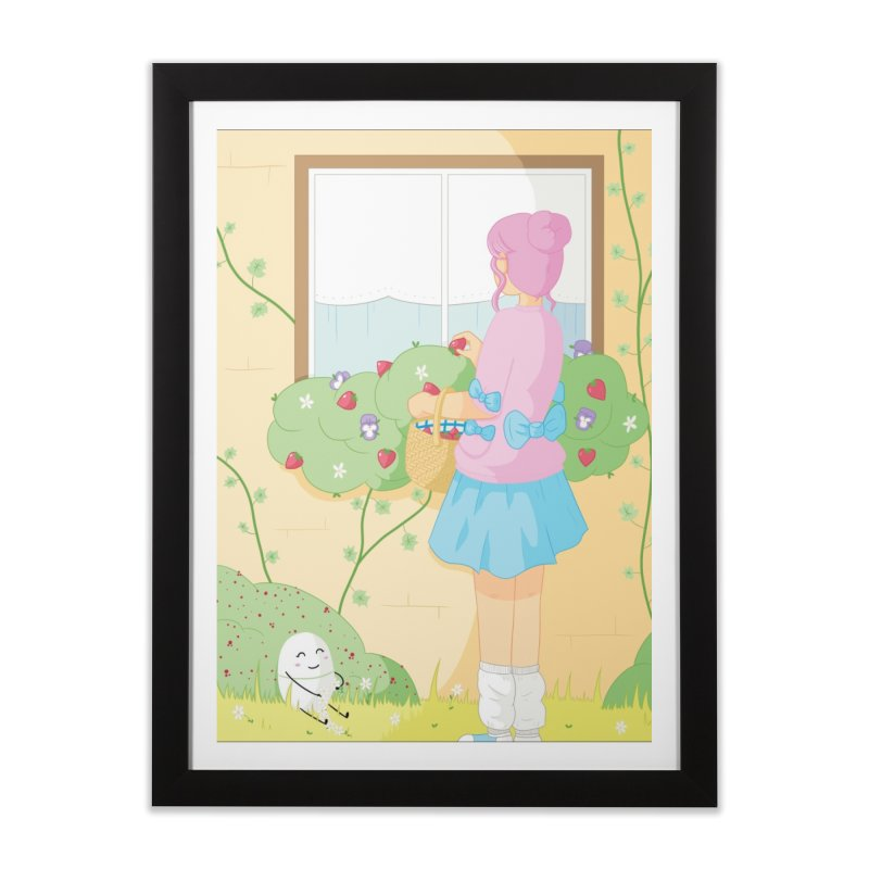 Companions - Strawberry Picking and Daisy Chain Making Home Framed Fine Art Print by Rachel Yelding | enchantedviolin