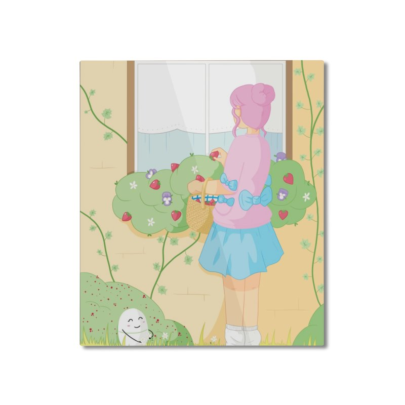 Companions - Strawberry Picking and Daisy Chain Making Home Mounted Aluminum Print by Rachel Yelding | enchantedviolin