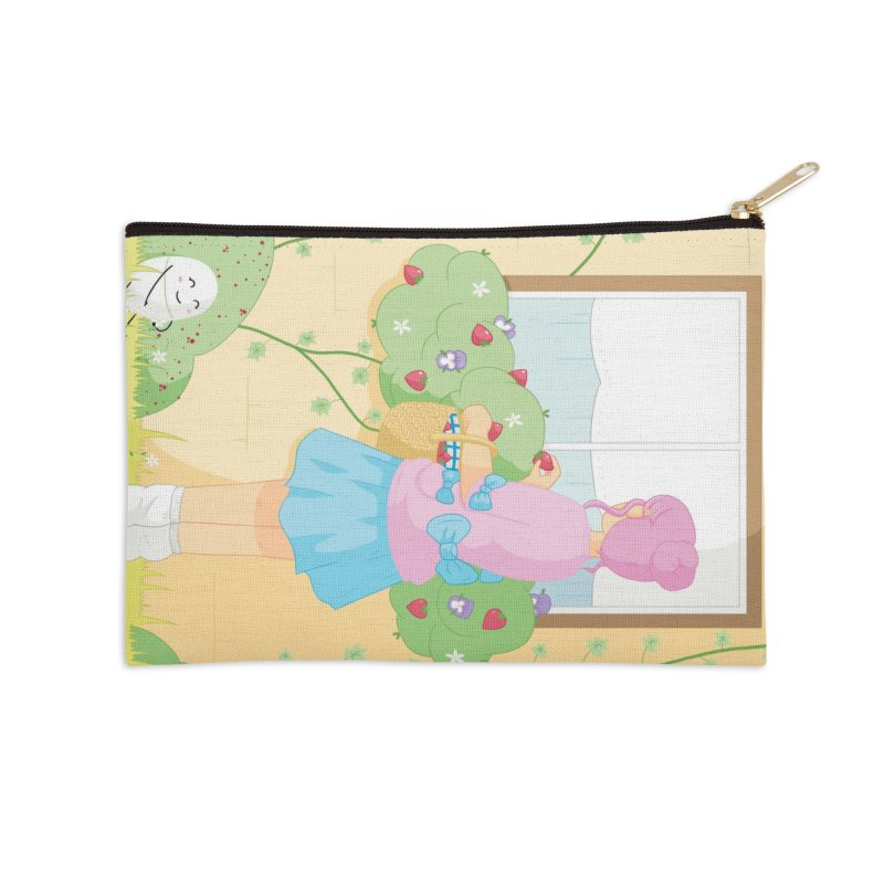 Companions - Strawberry Picking and Daisy Chain Making Accessories Zip Pouch by Rachel Yelding | enchantedviolin