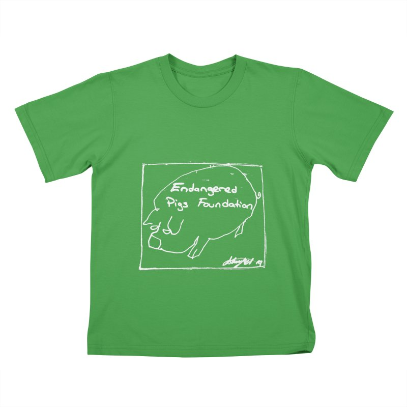 Kid's Tshirt in Kids T-Shirt Green by Endangered Pig's Foundation