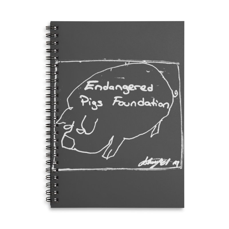 Notebook Accessories Lined Spiral Notebook by Endangered Pig's Foundation