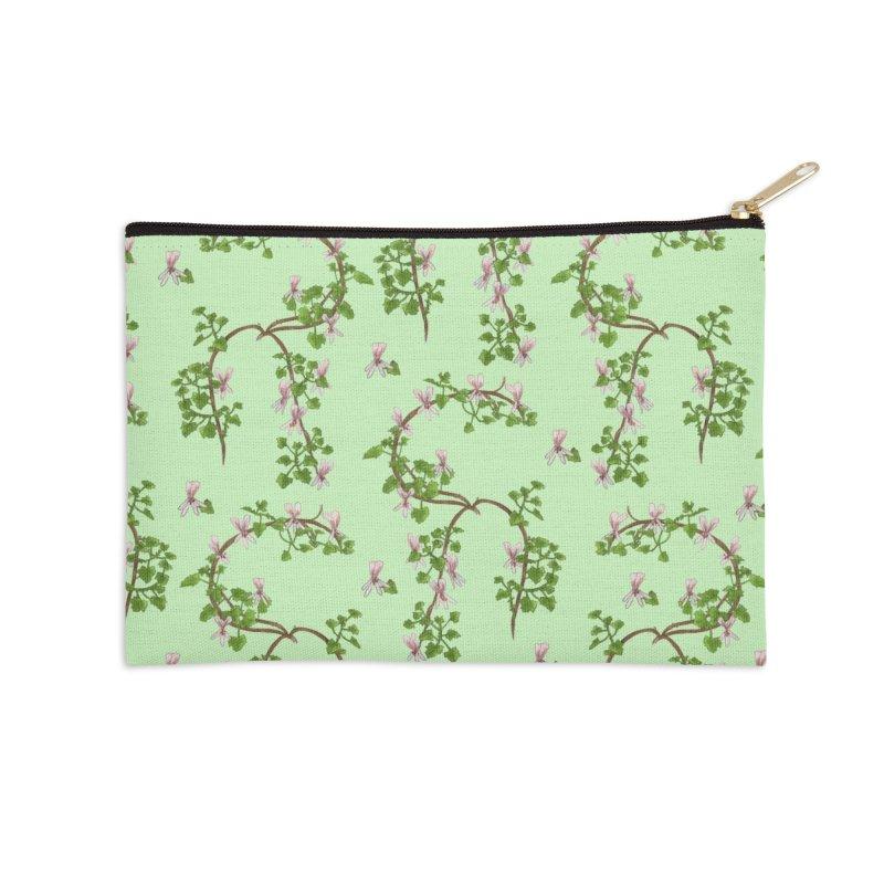 Pelargonium greytonense pattern design Accessories Zip Pouch by Nature&speciesArt    Artist Shop