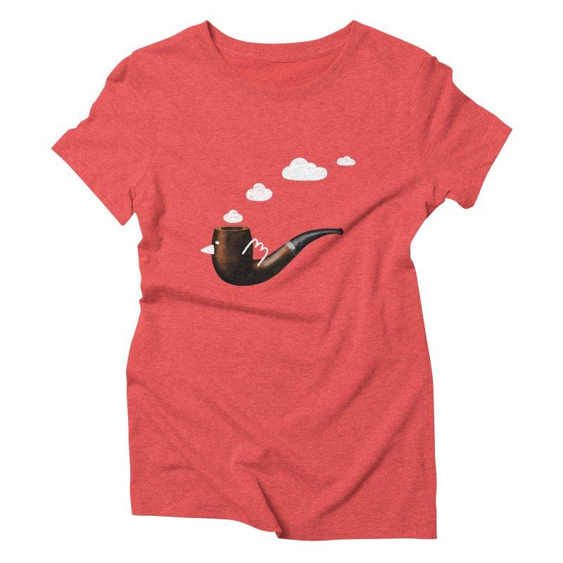 flying pipe Women's Triblend T-Shirt by enginoztekin's Artist Shop