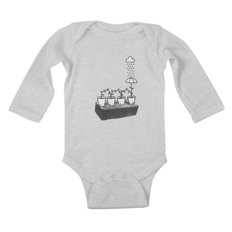 pots Kids Baby Longsleeve Bodysuit by enginoztekin's Artist Shop