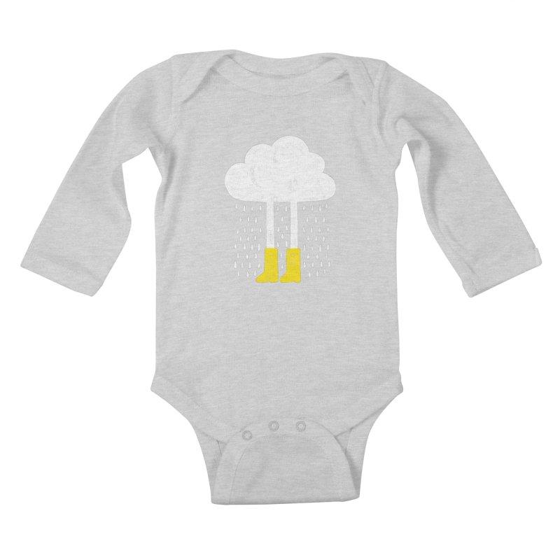 rainy Kids Baby Longsleeve Bodysuit by enginoztekin's Artist Shop