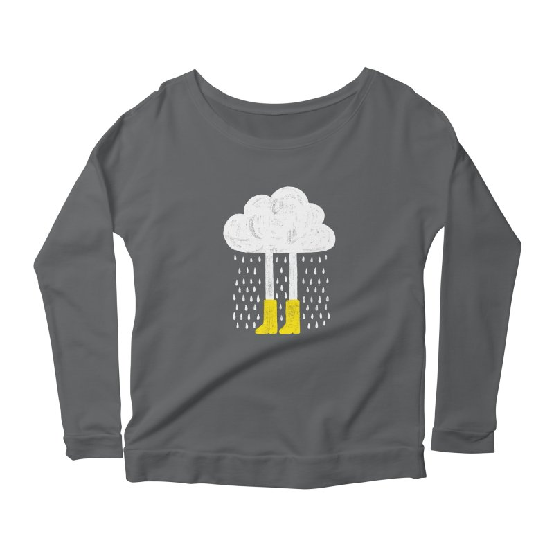 rainy Women's Longsleeve Scoopneck  by enginoztekin's Artist Shop
