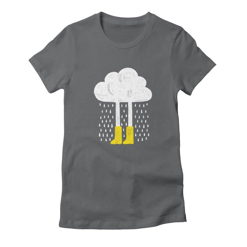 rainy Women's Fitted T-Shirt by enginoztekin's Artist Shop