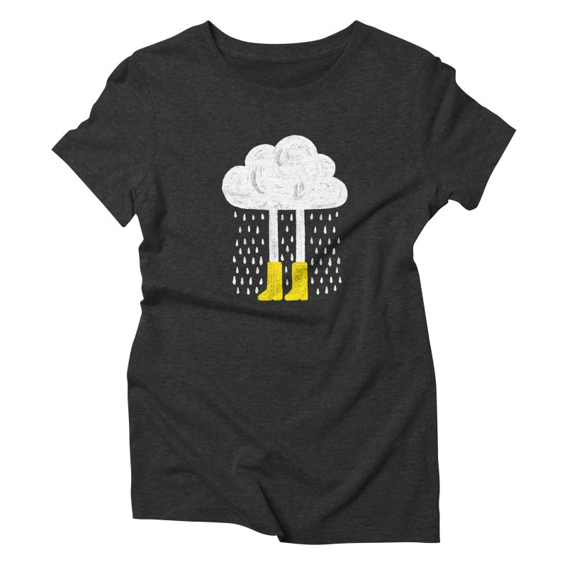 rainy Women's Triblend T-shirt by enginoztekin's Artist Shop