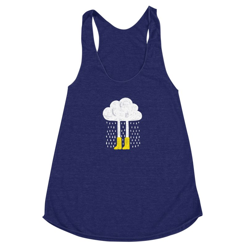 rainy Women's Racerback Triblend Tank by enginoztekin's Artist Shop
