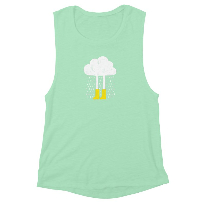 rainy Women's Muscle Tank by enginoztekin's Artist Shop