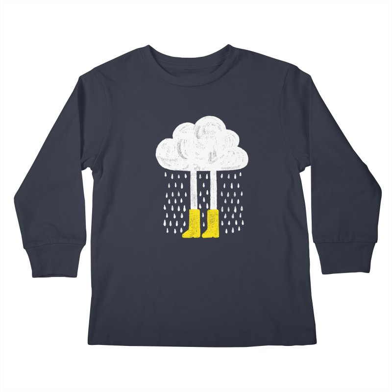 rainy Kids Longsleeve T-Shirt by enginoztekin's Artist Shop