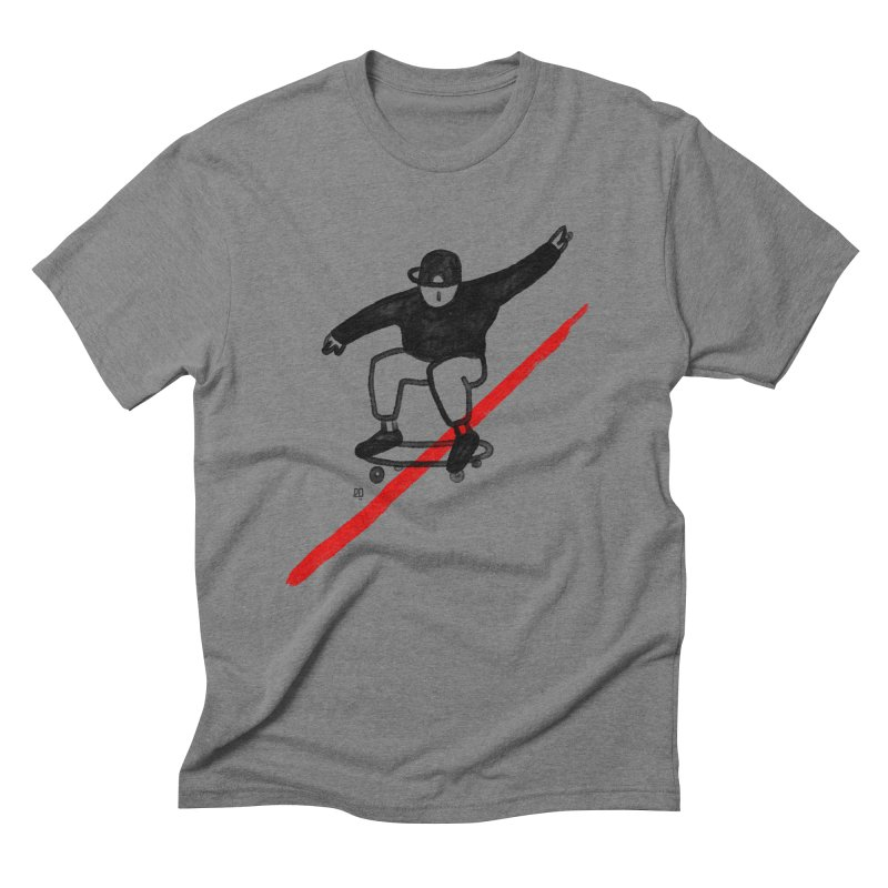 red line Men's Triblend T-Shirt by enginoztekin's Artist Shop