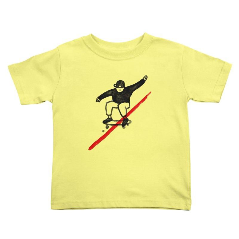 red line Kids Toddler T-Shirt by enginoztekin's Artist Shop