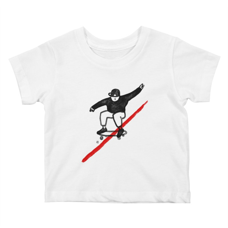 red line Kids Baby T-Shirt by enginoztekin's Artist Shop