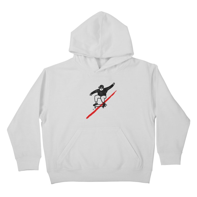 red line Kids Pullover Hoody by enginoztekin's Artist Shop