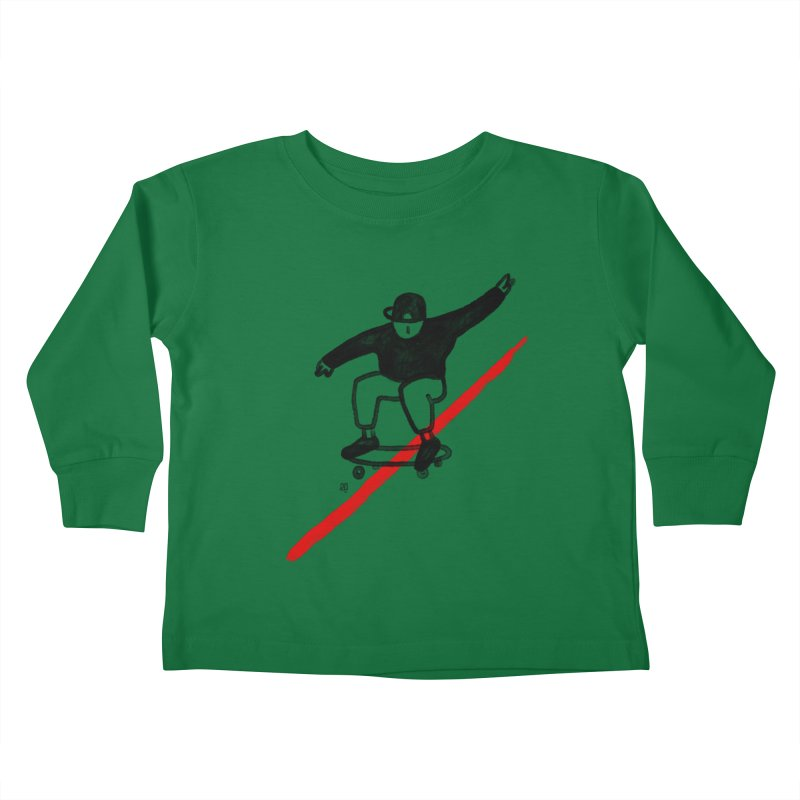 red line Kids Toddler Longsleeve T-Shirt by enginoztekin's Artist Shop