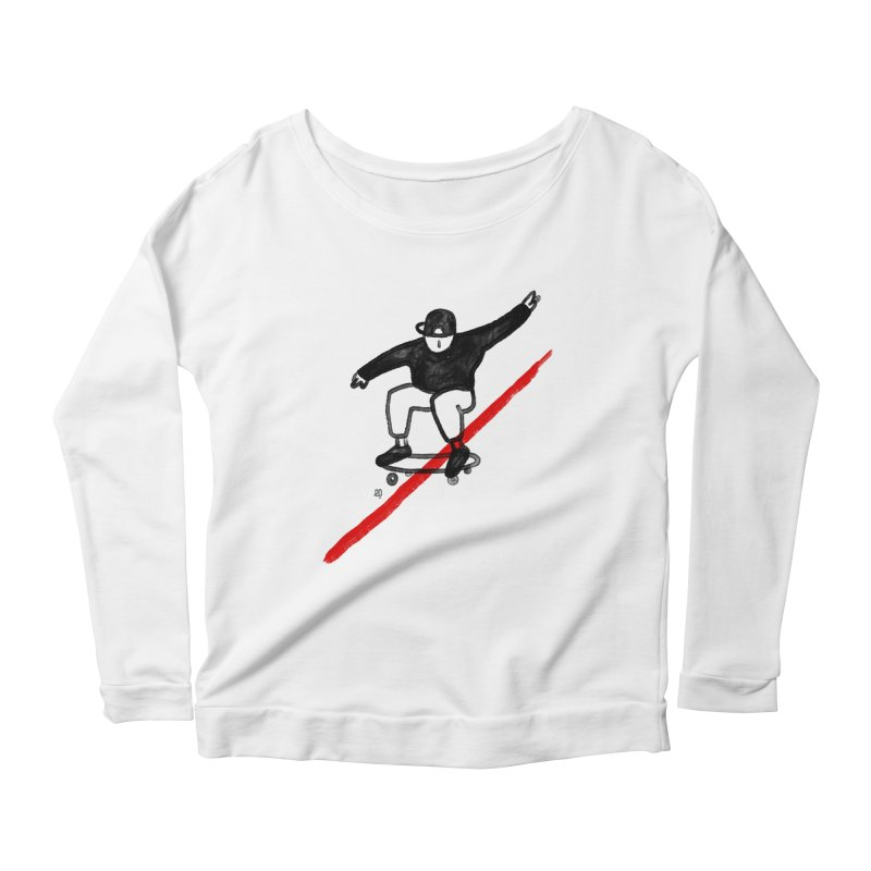 red line Women's Longsleeve Scoopneck  by enginoztekin's Artist Shop