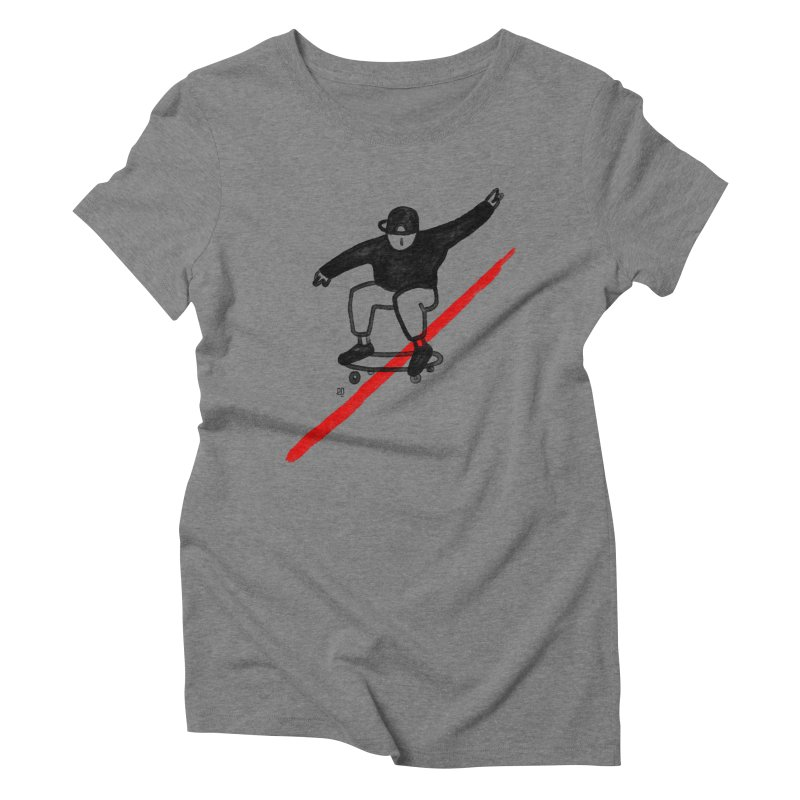red line Women's Triblend T-Shirt by enginoztekin's Artist Shop