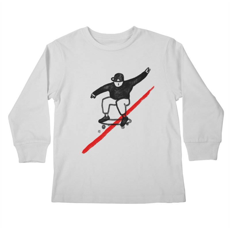red line Kids Longsleeve T-Shirt by enginoztekin's Artist Shop