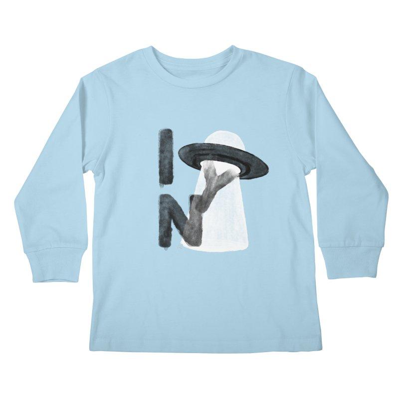 a tourist from somewhere Kids Longsleeve T-Shirt by enginoztekin's Artist Shop