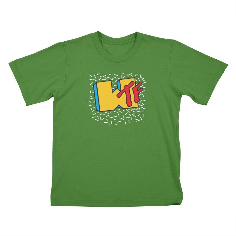 WTF in Kids T-Shirt Clover by Enjoy Denial