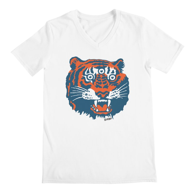 Tiger Men's V-Neck by Enjoy Denial