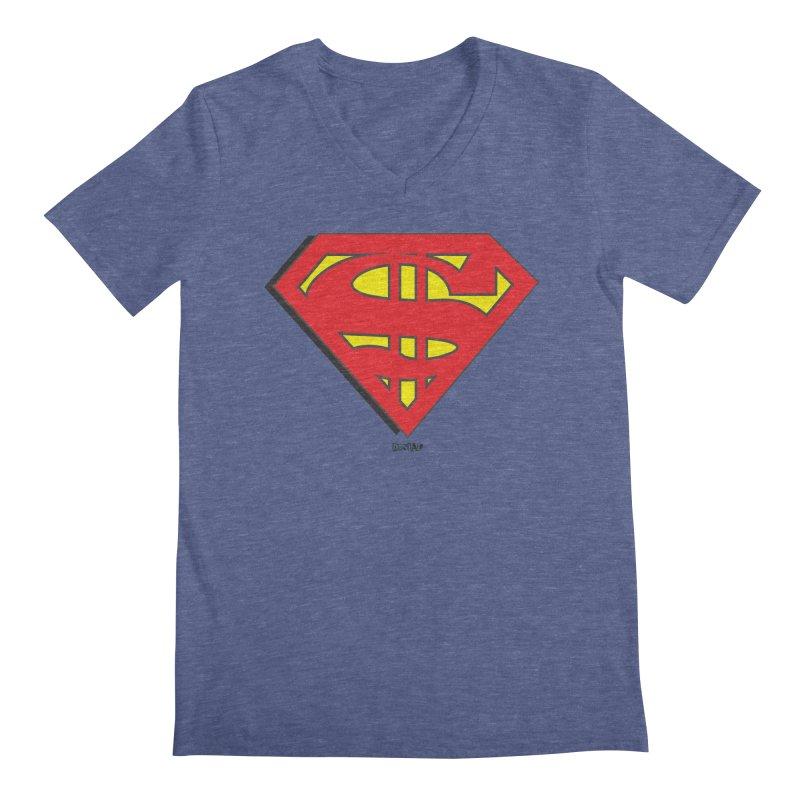 Superman Men's V-Neck by Enjoy Denial