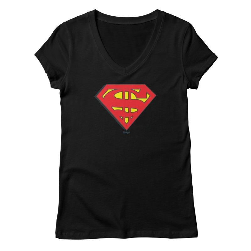 Superman Women's V-Neck by Enjoy Denial