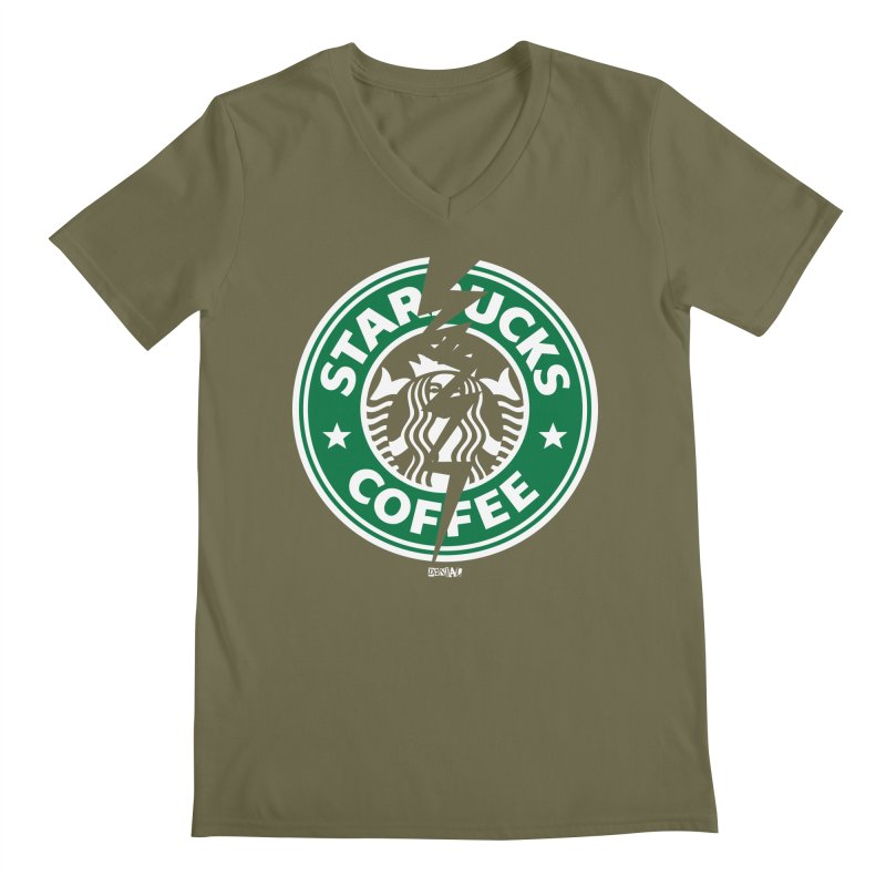 Starbucks Men's V-Neck by Enjoy Denial