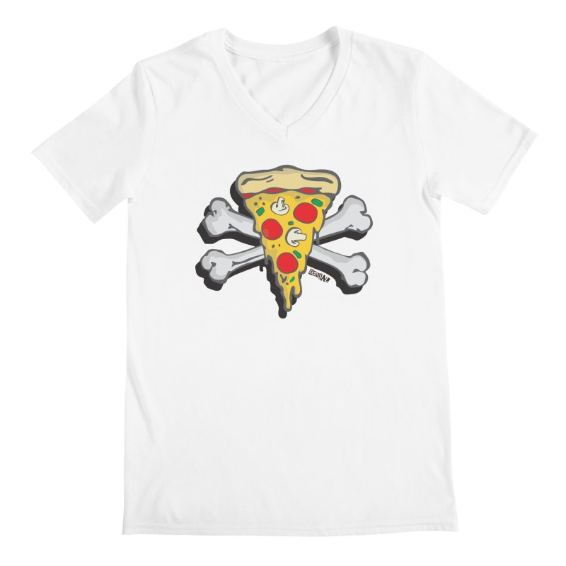 Pizza Men's V-Neck by Enjoy Denial