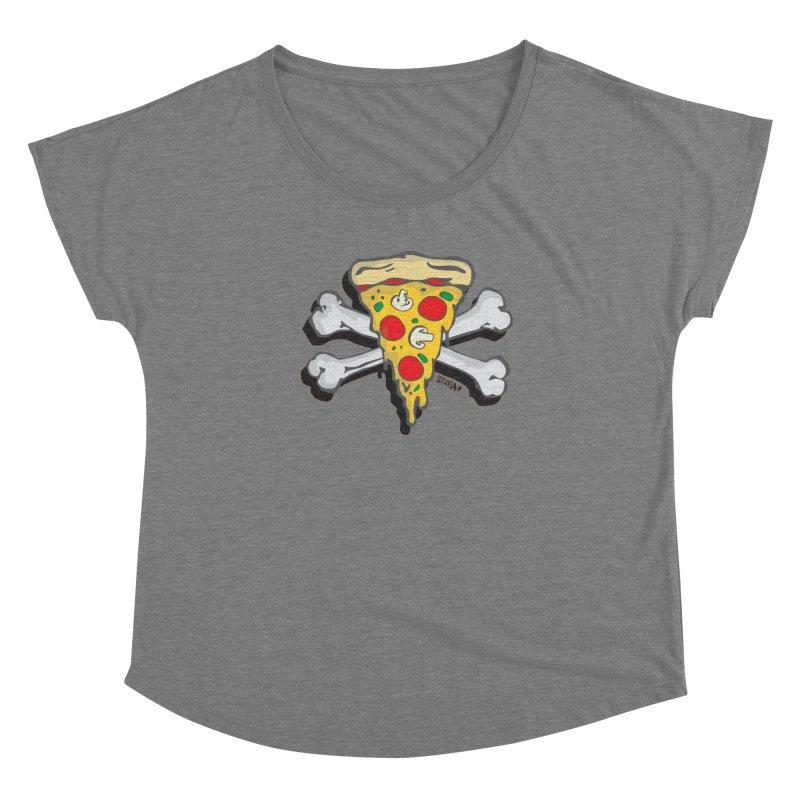 Pizza Women's Scoop Neck by Enjoy Denial