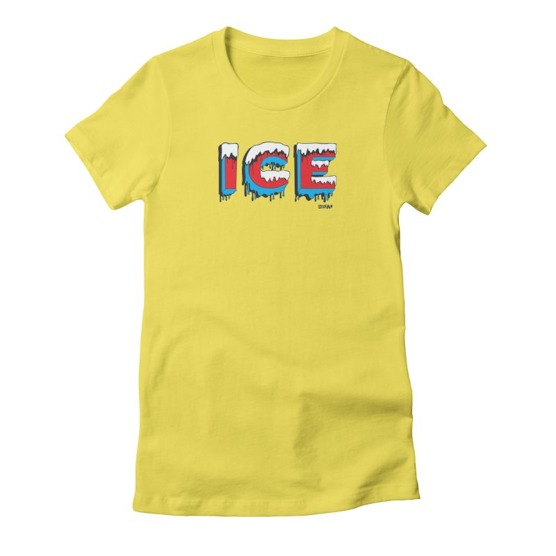 ICE in Women's Fitted T-Shirt Vibrant Yellow by Enjoy Denial