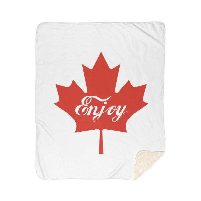 Enjoy Canada Home Sherpa Blanket Blanket by