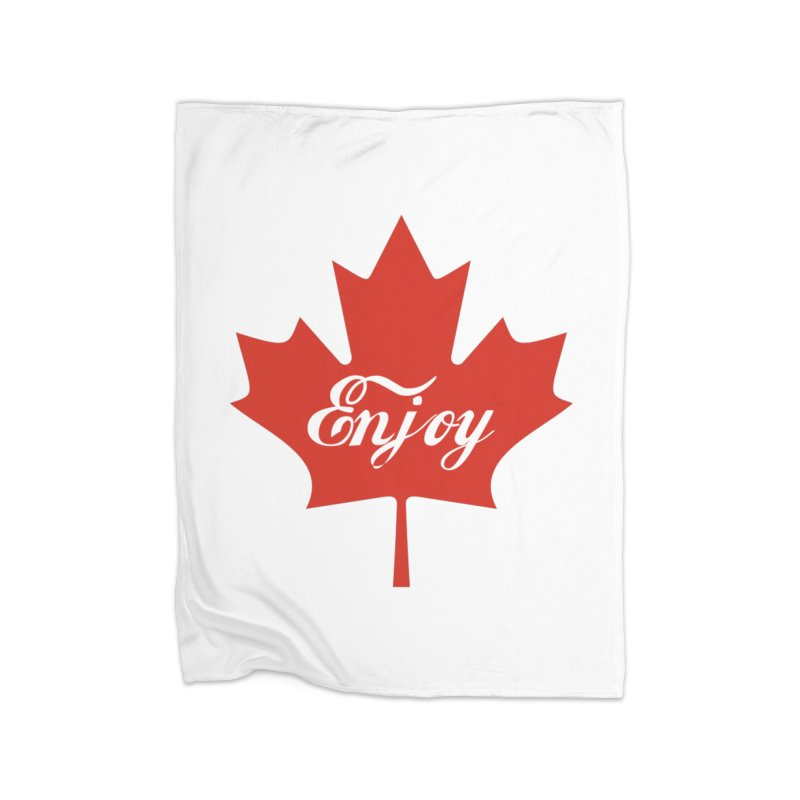 Enjoy Canada Home Fleece Blanket Blanket by